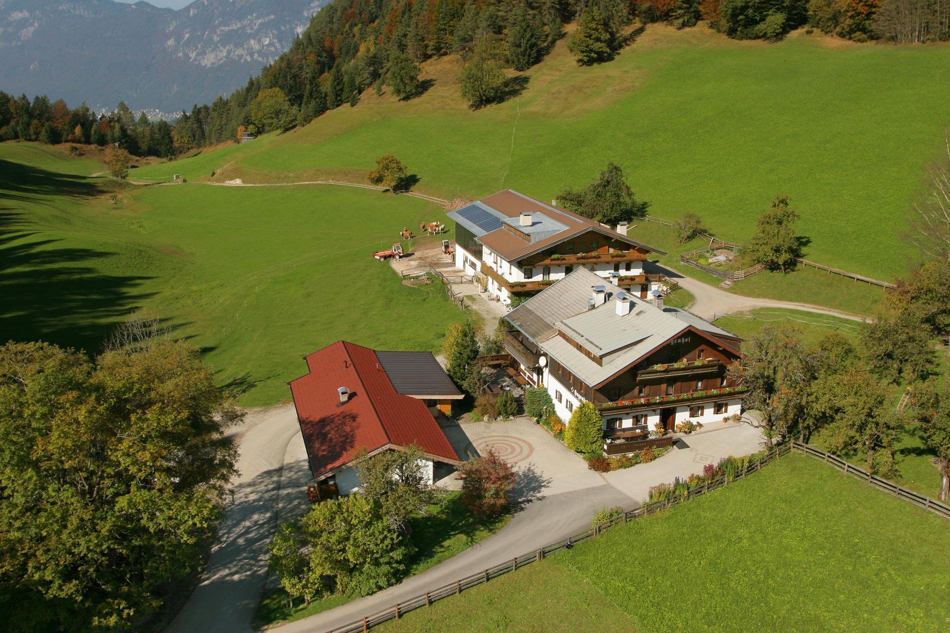 Der Hagenhof von oben
