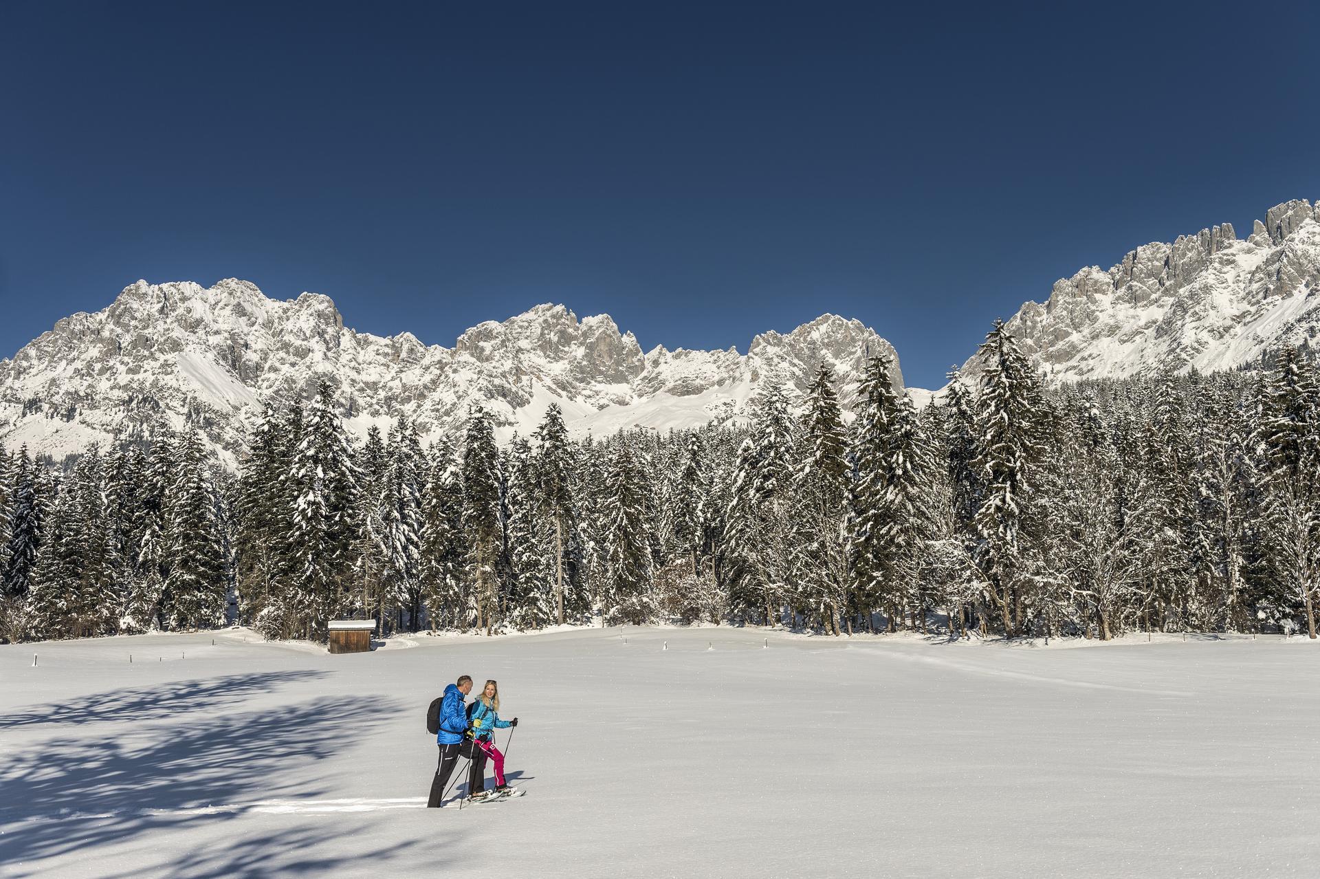 Schneeschuhwandern am Wilden Kaiser